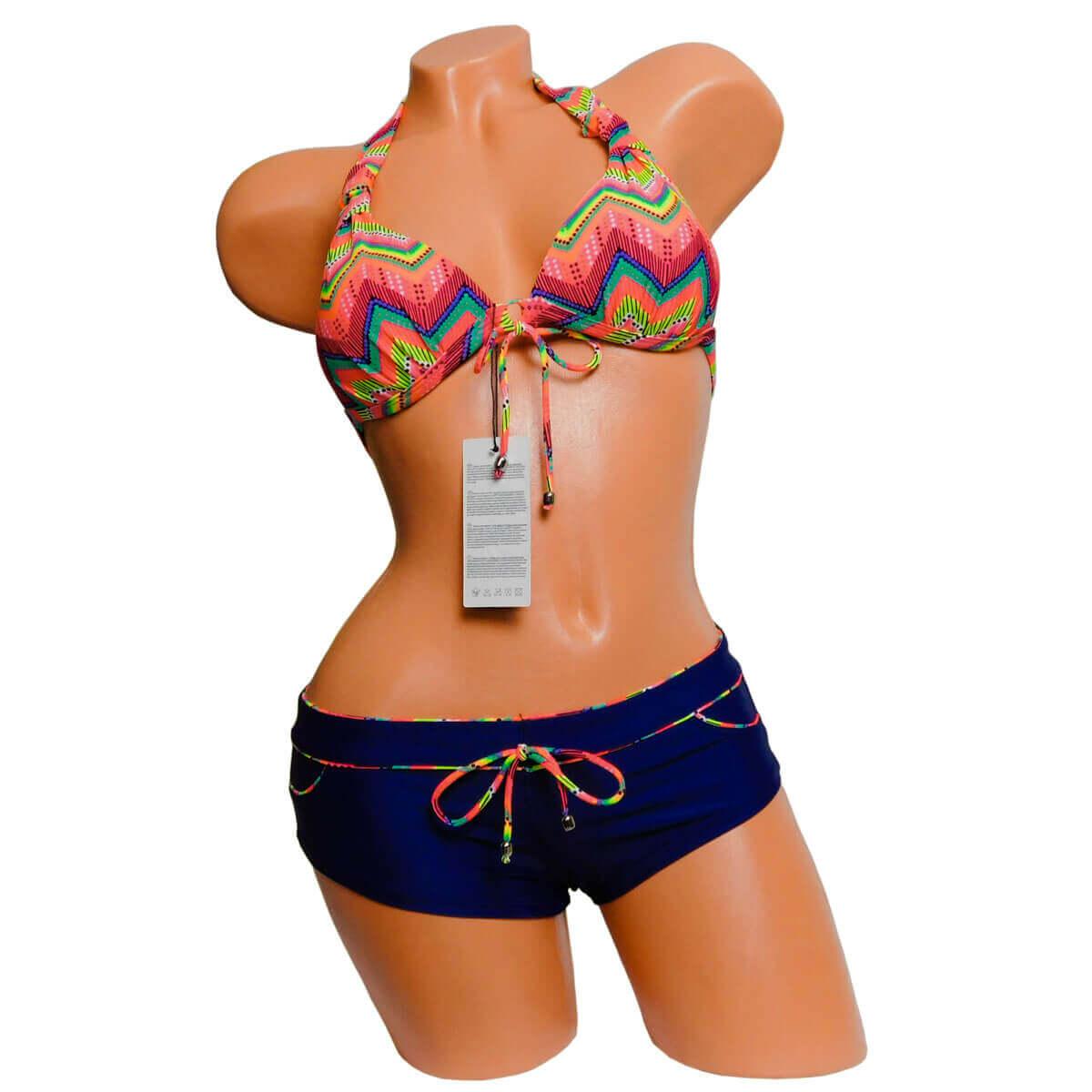Azték mintás sortos háromszög bikini • Dorien fcd918340a