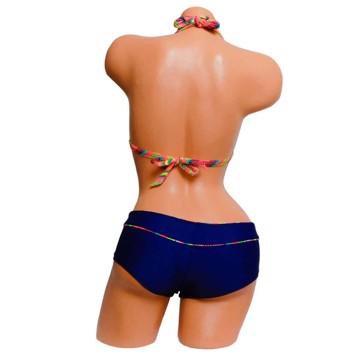 Azték mintás sortos háromszög bikini háta 4813 9a109973fd