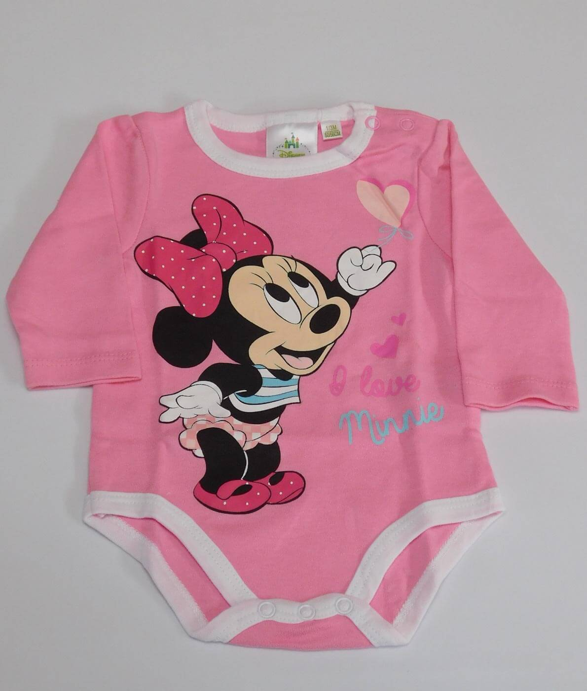 Disney Minnie egeres hosszú ujjú kislány body - Rózsaszín 7a7d42690b