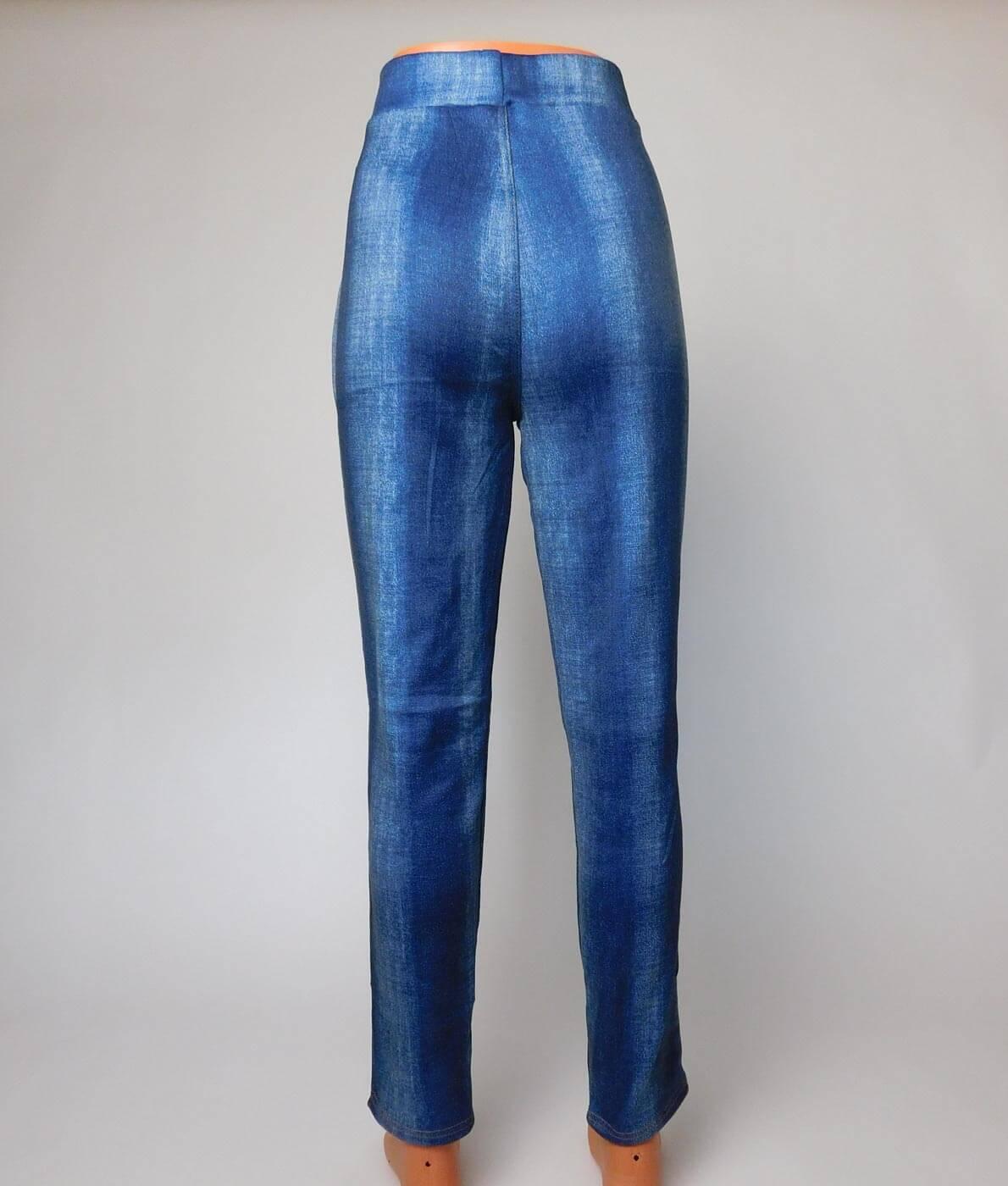 7a9d5bc54b Nagyméretű farmer hatású vastag téli leggings - N194-144 - Kék
