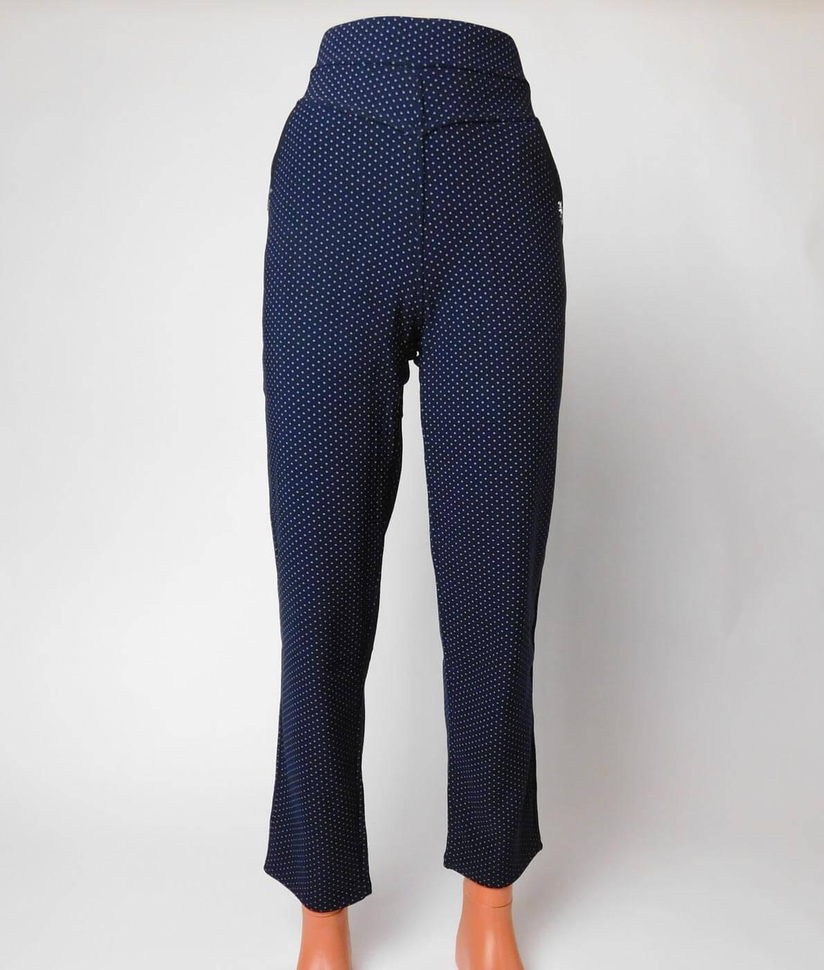 1a49ea1bc7 Nagyméretű, pöttyös női sztreccs nadrág - NT-406 • Dorien