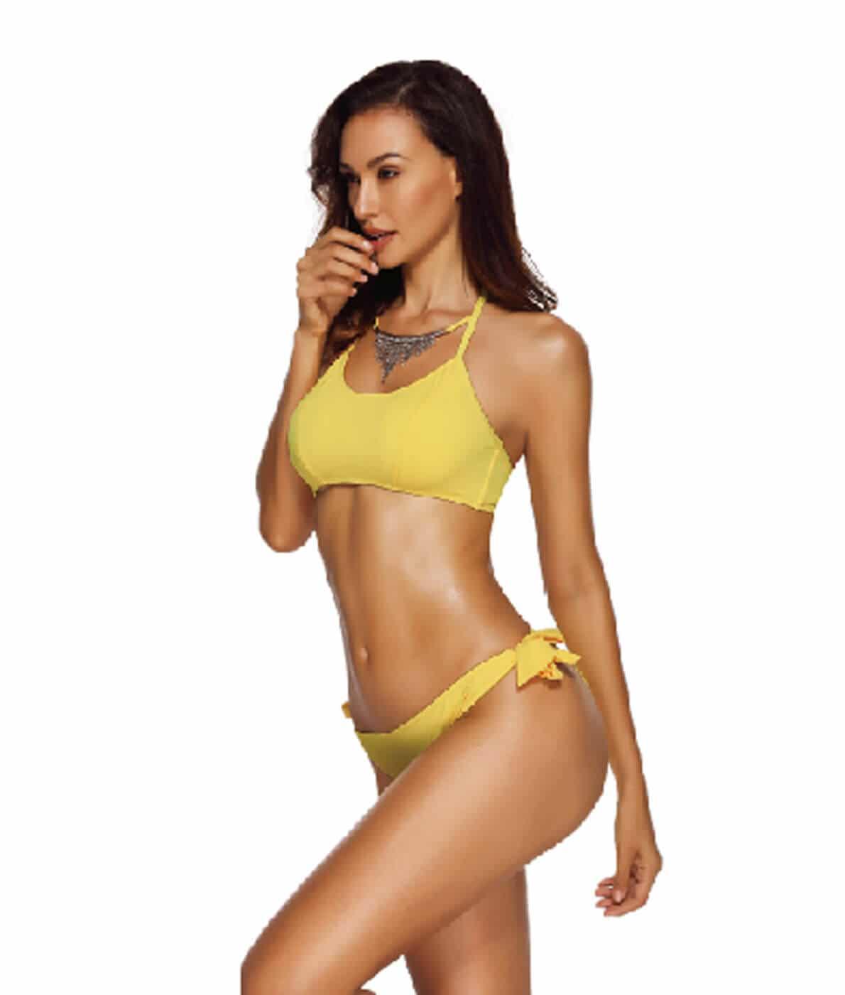 5c6557c0ca Csőtop bikini nyaklánccal - 14151 • Dorien